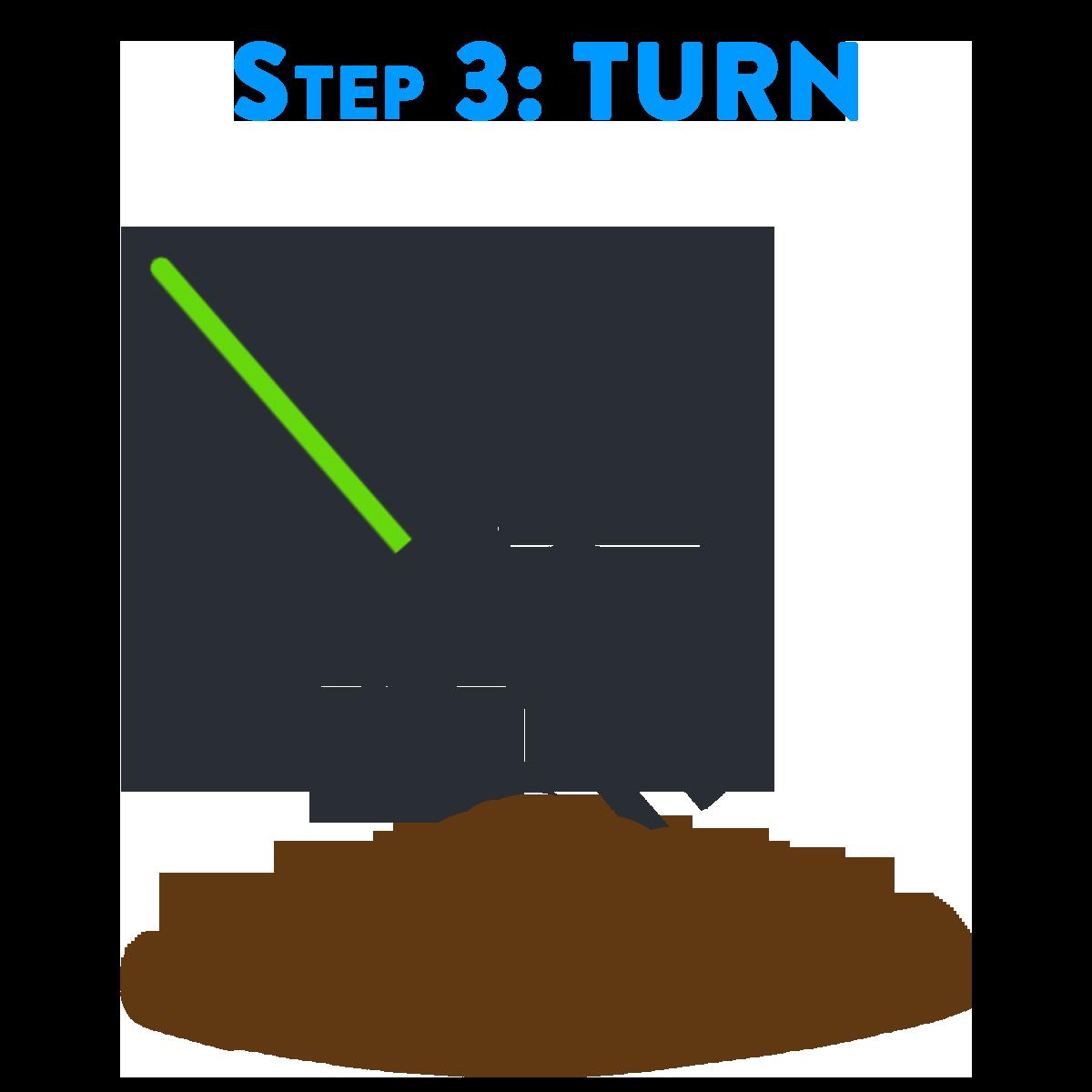 Step 3: Turn